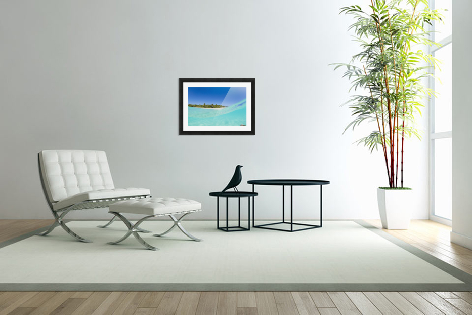 Tropical Island, Blue Sky and Beautiful Ocean in Custom Picture Frame