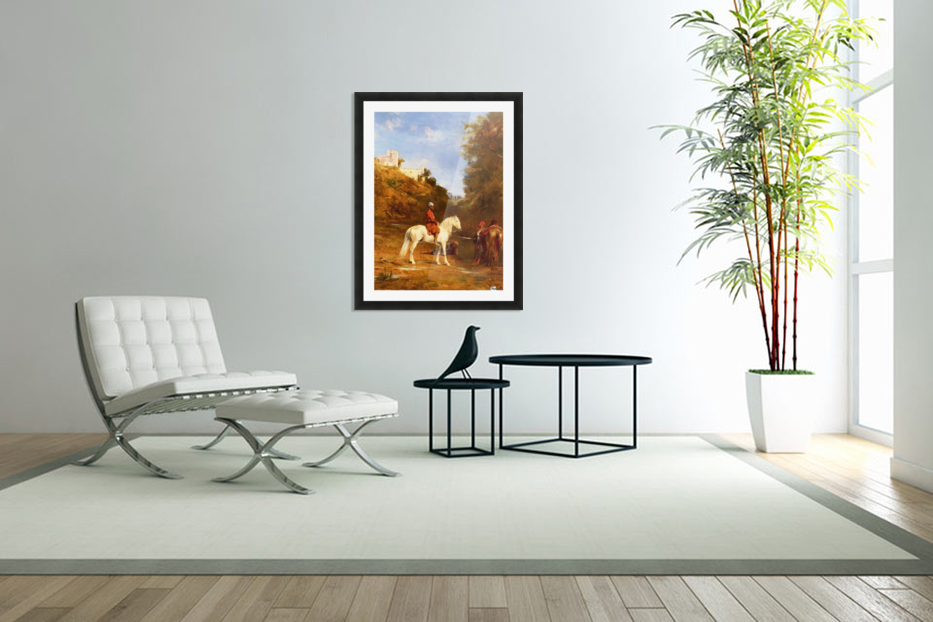 Watering the horses in Custom Picture Frame