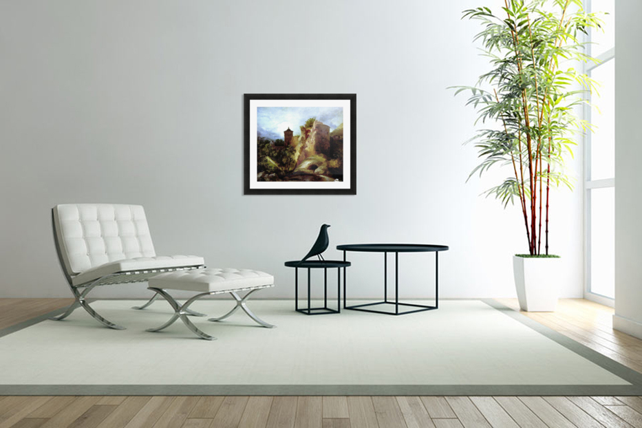 A deserted castle in Custom Picture Frame