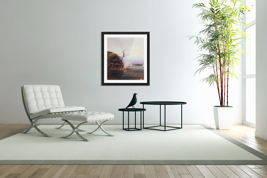 Russian landscape and Rook in Custom Picture Frame