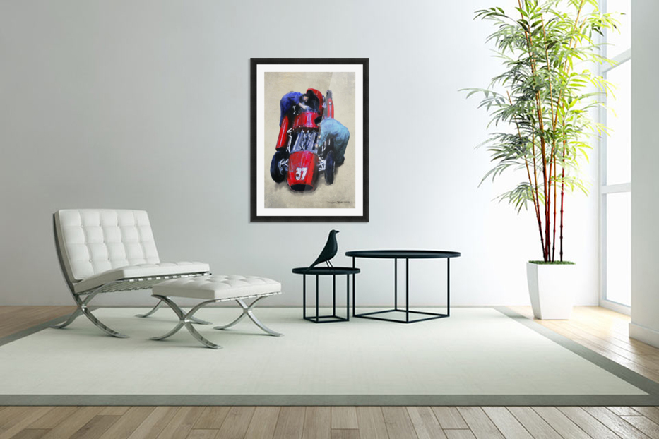 Lancia D50 1955 in Custom Picture Frame