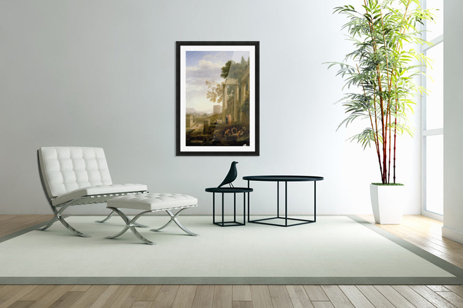 Landscape with Burial of St. Serapia in Custom Picture Frame