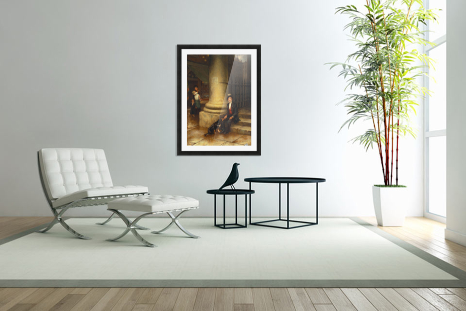 A family and a dog in Custom Picture Frame