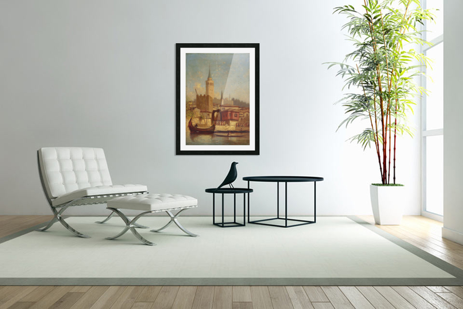 The Galata Tower, Constantinople in Custom Picture Frame