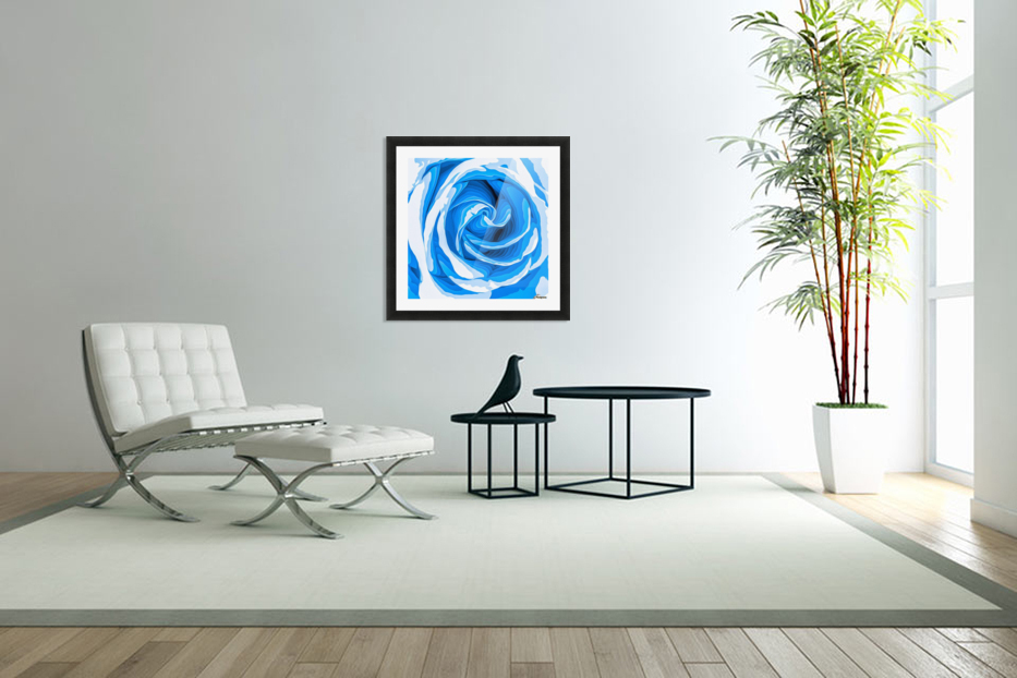 closeup blue rose texture abstract background in Custom Picture Frame