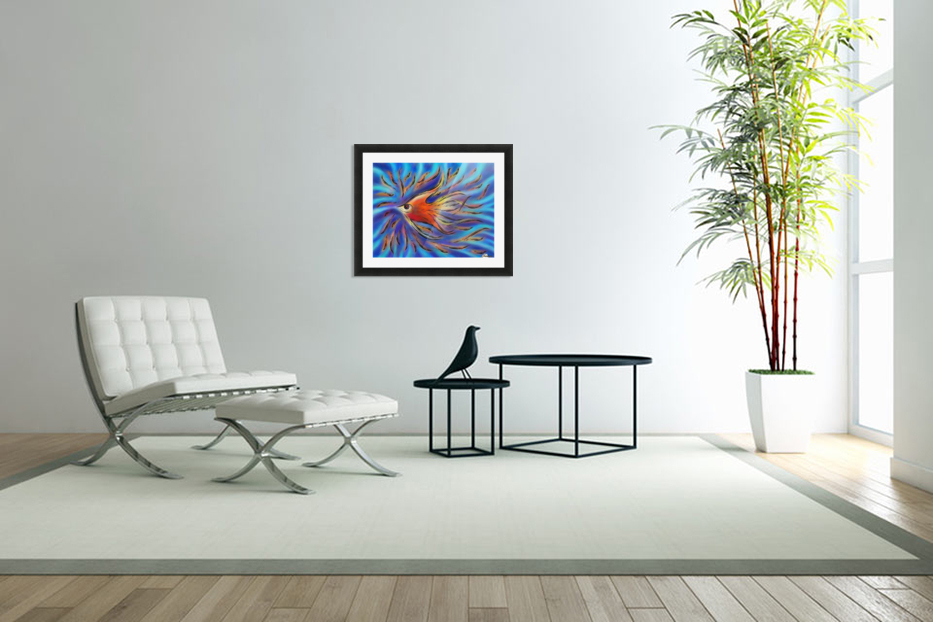Poloniussa - red angelfish in Custom Picture Frame