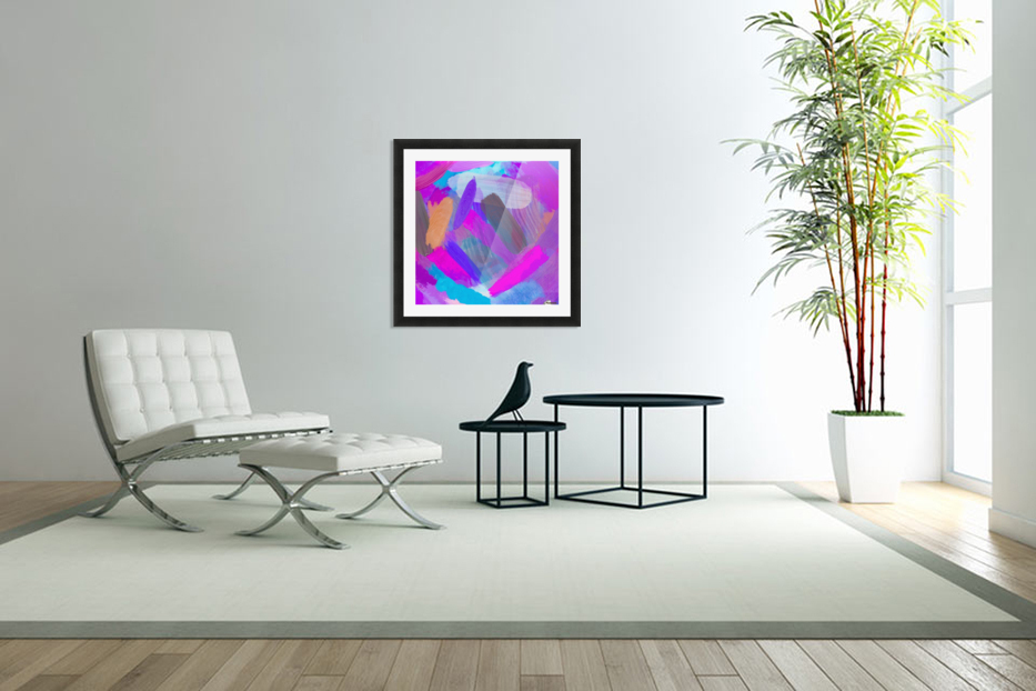 pink brown purple blue painting abstract background in Custom Picture Frame