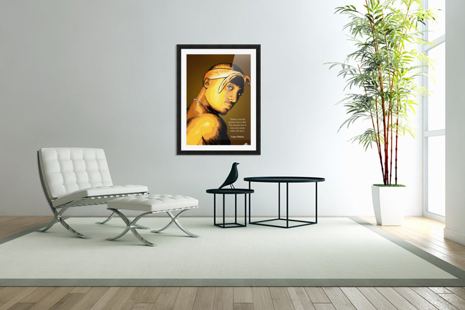 Tupac in Custom Picture Frame