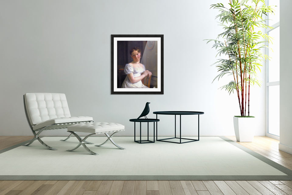 Portrait of Julie Eckersberg, the artist's second wife in Custom Picture Frame