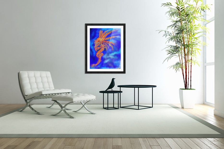 Essemios - furious dragon in Custom Picture Frame