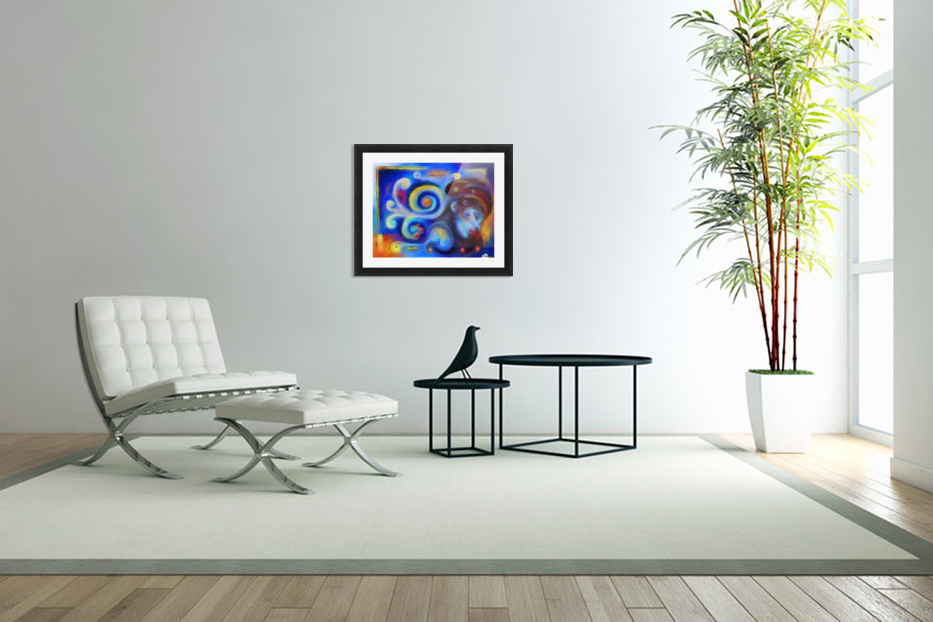 Escanillium - butterfly lady in Custom Picture Frame