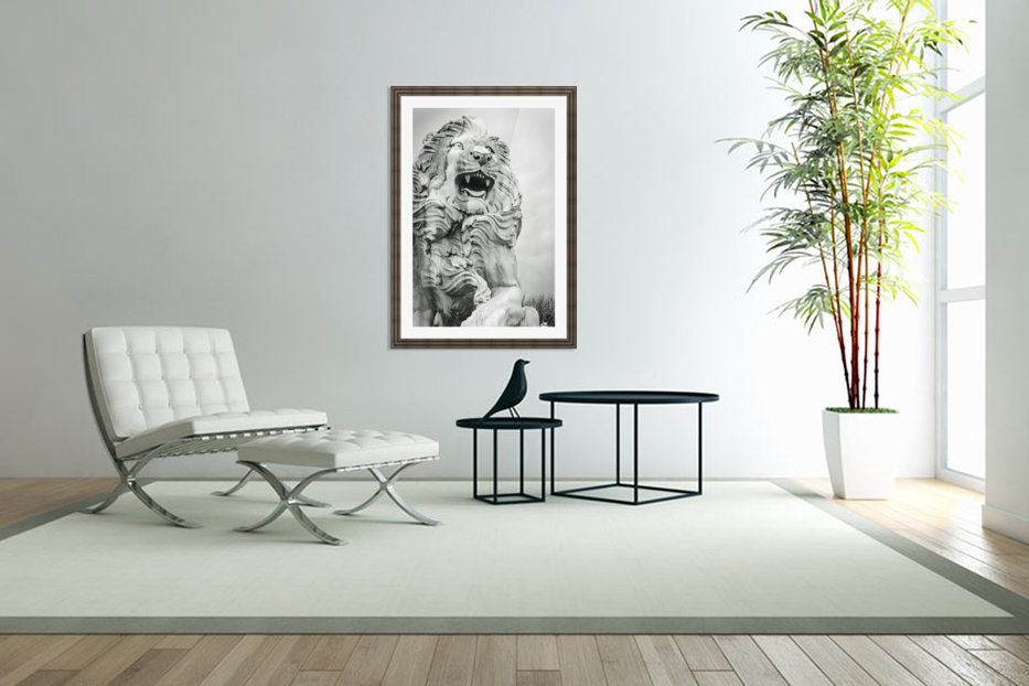 King of the Beast in Custom Picture Frame
