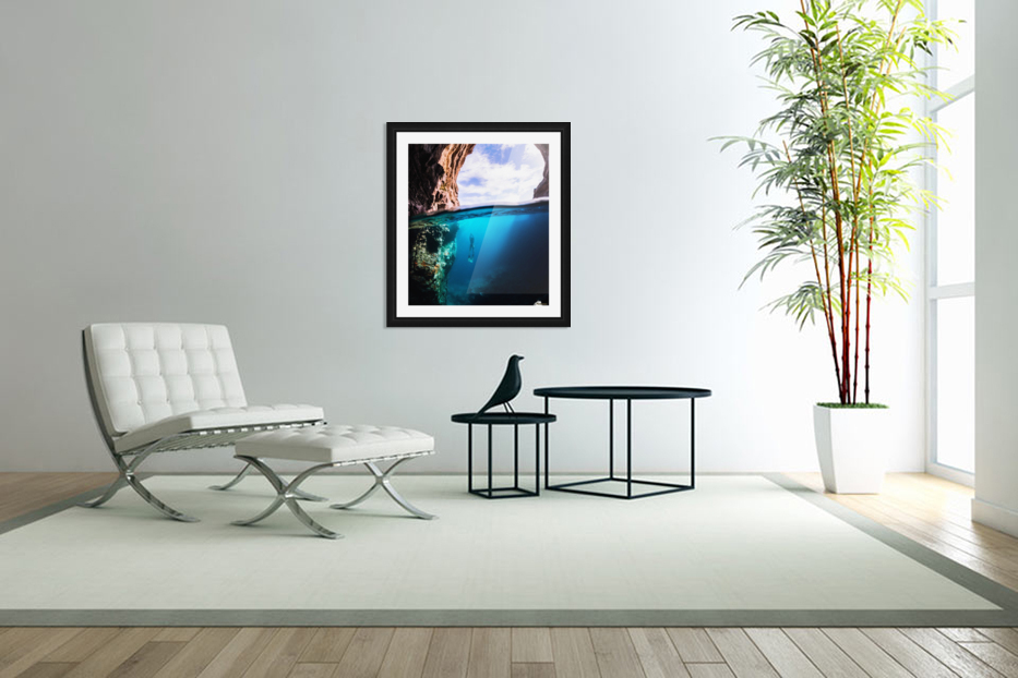 Cave diving vert in Custom Picture Frame