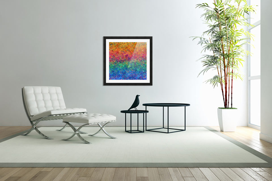 Fluid Colors G249 in Custom Picture Frame