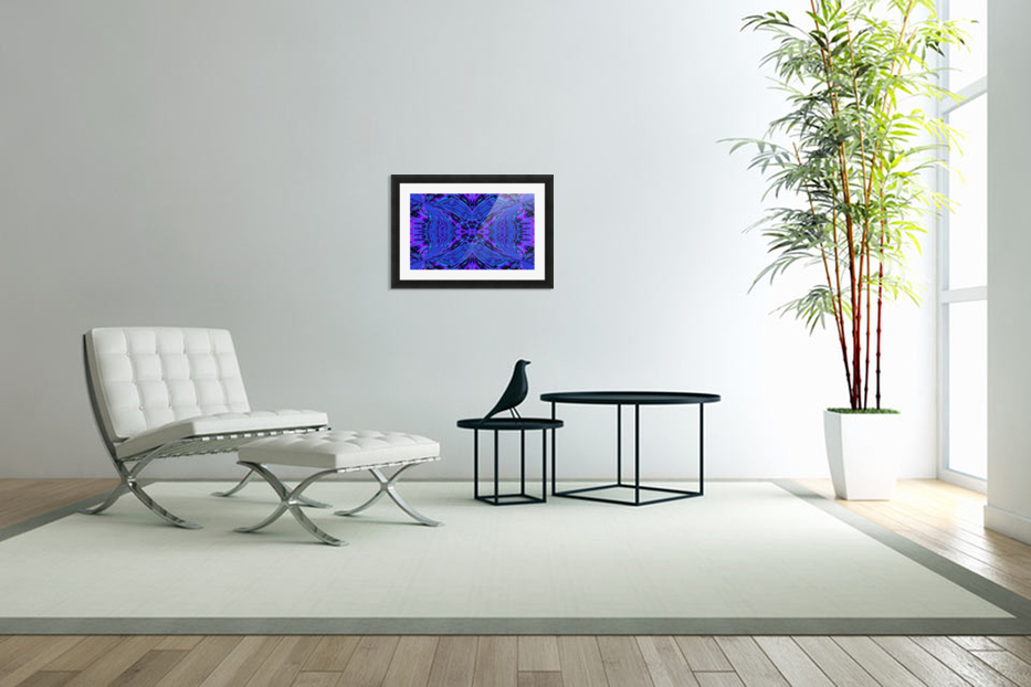 Butterfly in the Blue in Custom Picture Frame