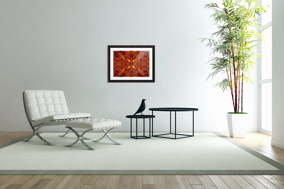 Fire Butterfly  in Custom Picture Frame