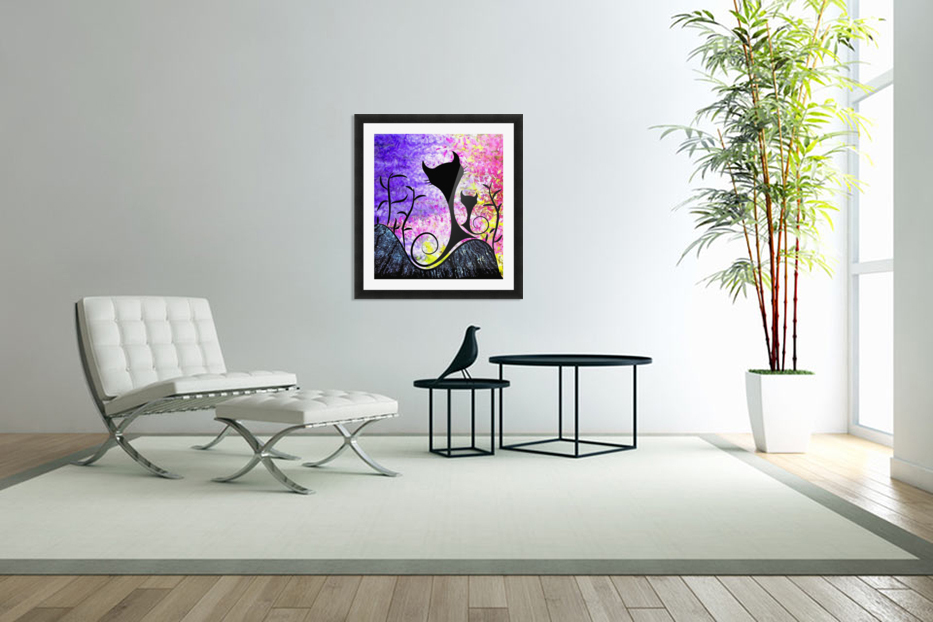 Messemios - black cats in Custom Picture Frame