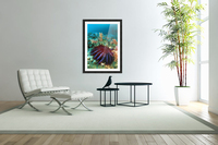 Thailand, Reef Scene With Crown-Of-Thorns Starfish (Acanthaster Planci).  Acrylic Print