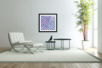 geometric pixel square pattern abstract background in blue pink  Acrylic Print