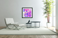 bouquet of roses texture pattern abstract in pink and purple  Acrylic Print