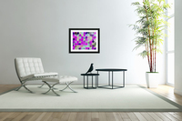 geometric square and circle pattern abstract in pink blue  Acrylic Print