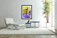 Lavender And Yellow Iris Heart  Acrylic Print