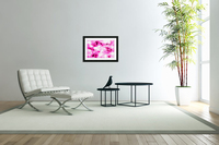 Roses with Vanilla Ice Cream - pink white red large abstract swirl wall art  Acrylic Print