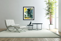 Woman with 2 mangoes  Acrylic Print