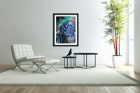 Cyborg in Surreal Space  Acrylic Print