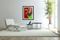 Cactus on Green Table  Acrylic Print