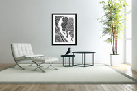 Wandering Abstract Line Art 12: Grayscale  Acrylic Print