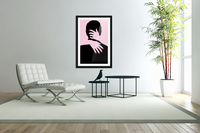 poster the hands embrace love  Acrylic Print