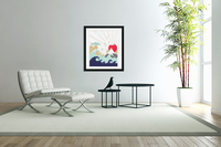 mountain sun japanese illustration  Acrylic Print