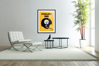 1968_National Football League_Pittsburgh Steelers_Media Guide_Row One Brand Vintage Media Guide Art  Acrylic Print