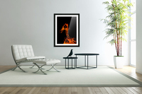 Burning on Fire Letter A  Acrylic Print