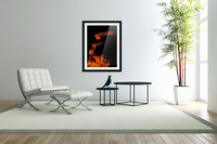 Burning on Fire Letter F  Acrylic Print