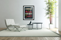 Best inspirational wisdom quotes life forget mistake remember lesson poster  Acrylic Print