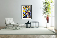 Watercolor Tropical Surrealism Orchids Painting  Acrylic Print