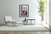 Brussels Cityscape Bohemian Painting  Acrylic Print