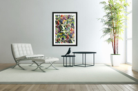 Linear Interlacing Expressionism Abstract  Acrylic Print