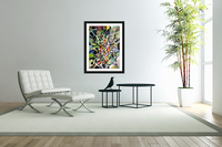 Subconsciousness Toughts in Maximalism Contemporary  Acrylic Print