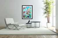Realm of Tropical Exotic Nature Pattern  Acrylic Print