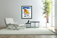 Skiing in Courchevel  Acrylic Print