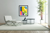 2 White Lines in Abstract Background  Acrylic Print