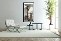Street lamp with Big Ben in background, London, UK  Acrylic Print