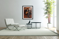 The guitarist Pagans and Monsieur Degas by Degas  Acrylic Print