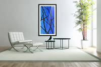 Ultramarine Forest Winter Blues III  Acrylic Print