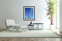 Eiffel tower Paris black and white with color  Acrylic Print