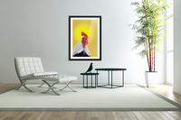 Crowing rooster;British columbia canada  Acrylic Print