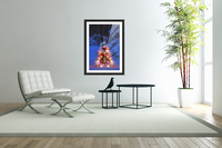 Illuminated Christmas Tree In A Forest  Acrylic Print